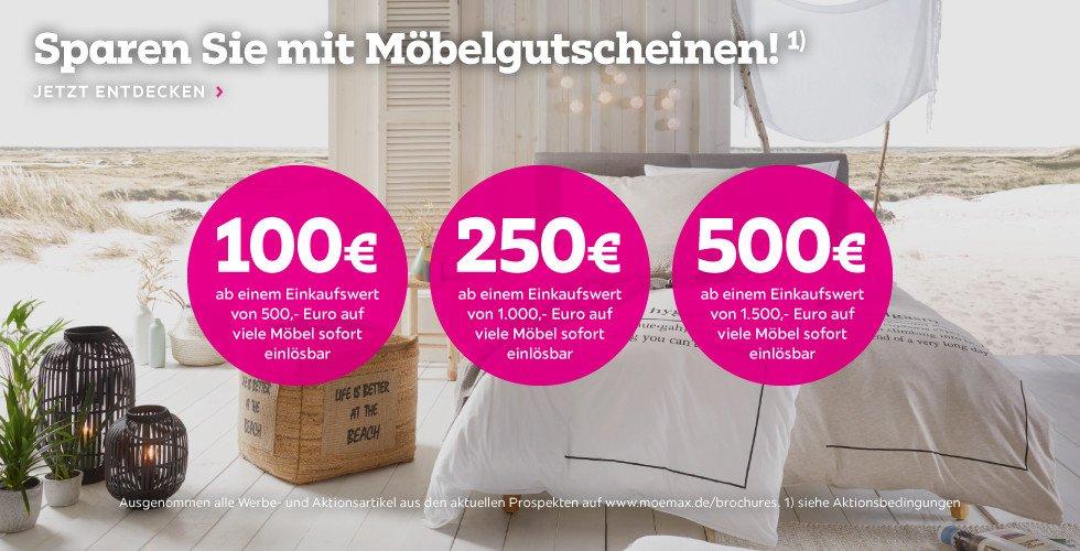 Mömax: Bis zu 500€ Gutschein