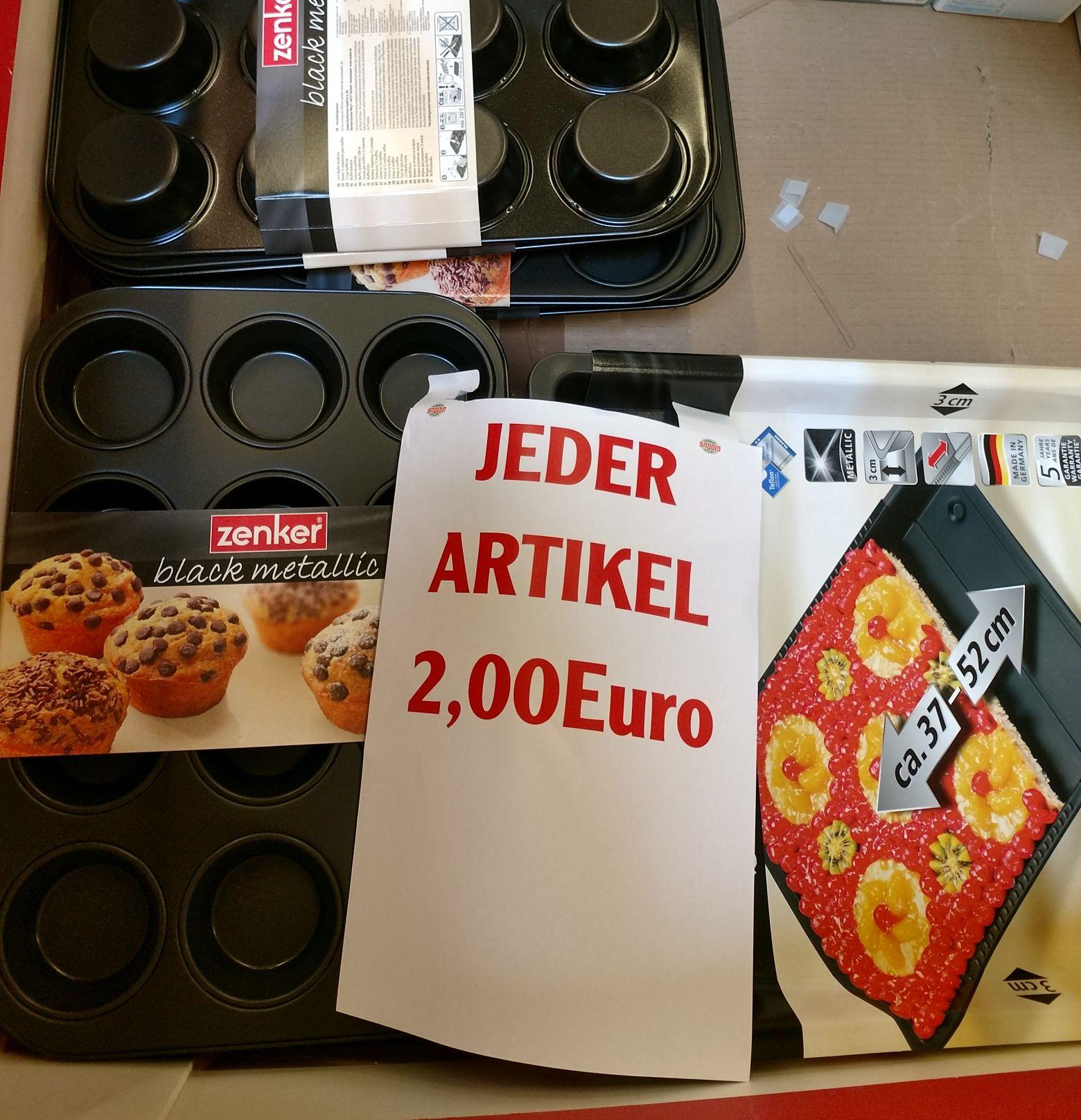 Lokal, Globus Völklingen - Zenker Backblech / Muffinform für 2€