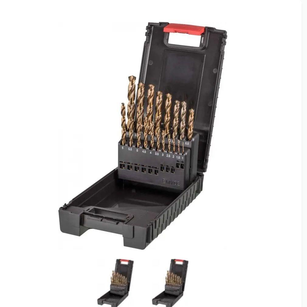 Stahl Spiralbohrersatz 19tlg. 1-10mm HSSE auf atalanda.com