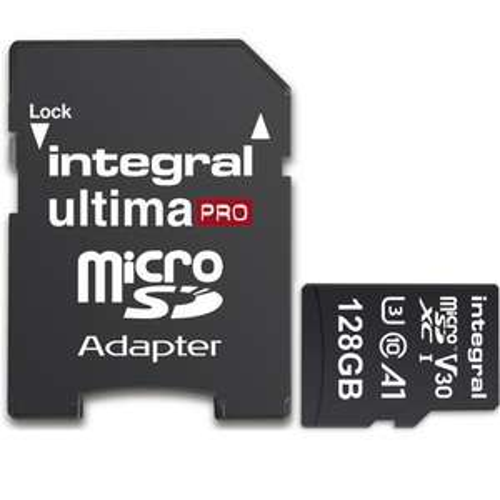 Integral UltimaPRO Premium MicroSDXC - 128GB, A1/V30/U3, 100-90MB/s für 17,26€ @ Mymemory.uk