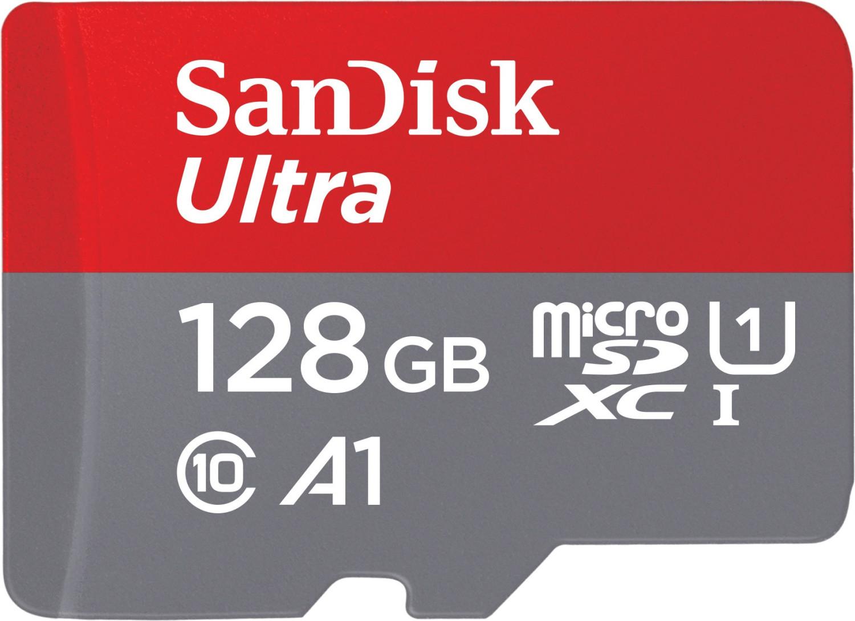 SanDisk Ultra 128GB microSDXC Speicherkarte (bis zu 100 MB/Sek., Class 10, U1, A1) für 16,10€ [Amazon Prime]