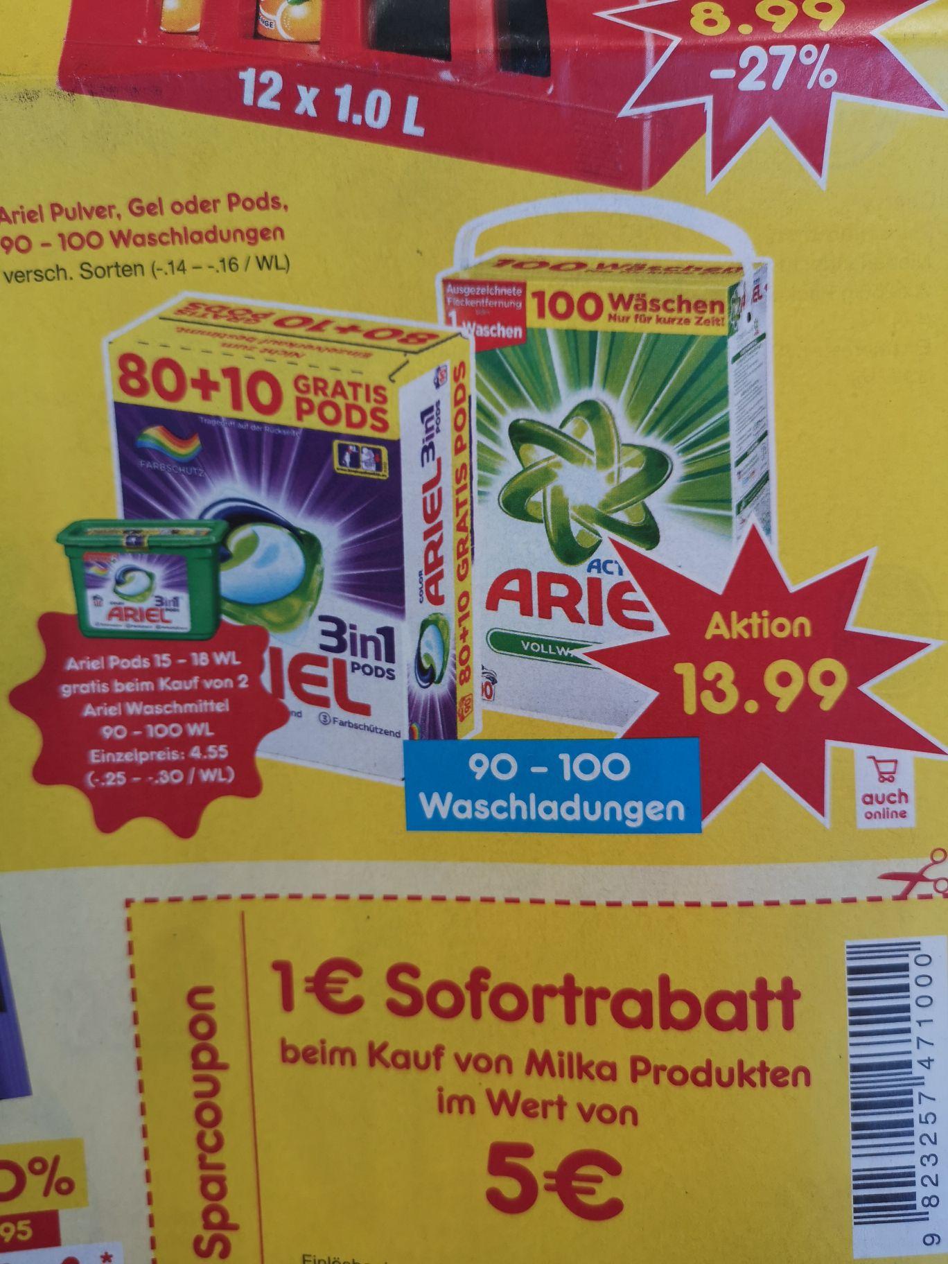 195 Ariel pods 0,14euro /st