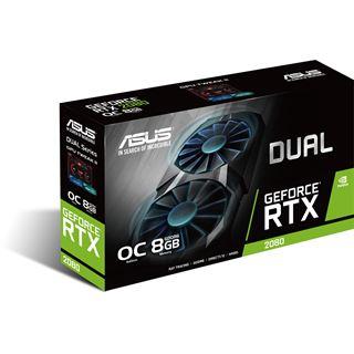 8GB Asus GeForce RTX 2080 Dual OC Aktiv PCIe 3.0 x16 (Retail)