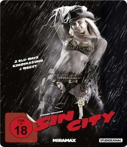 Sin City Steelbook Edition Kinofassung + Recut (2 Discs Blu-ray) für 8,50€ (Müller)