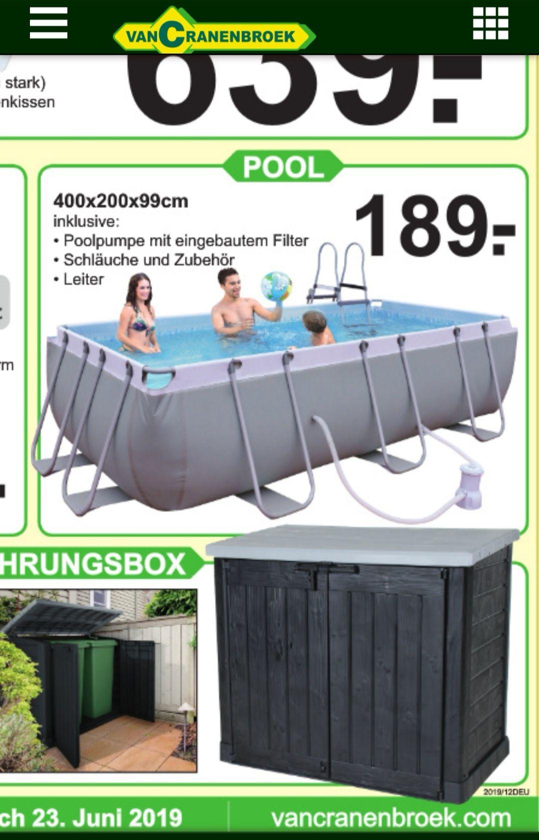 Pool 400x200x99cm mit Zubehör für Grenzgänger NL