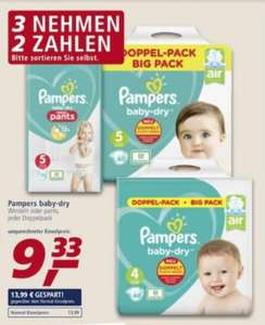 Pampers Baby Dry Windeln oder pants Doppelpack 3 für 2