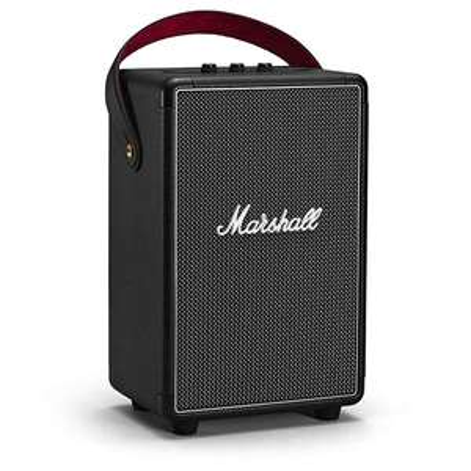 Marshall Tufton Bluetooth Lautsprecher (80W, Bluetooth 5.0, aptX, 4.6kg, IPX2, QuickCharge @20min Laden/4h Wiedergabe, max. 20h Betrieb)