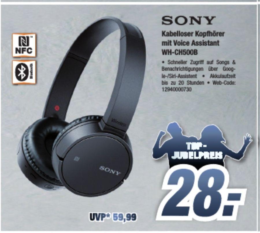 Sony WHCH500B schwarz Kopfhörer (Bluetooth) [Expert Emden]