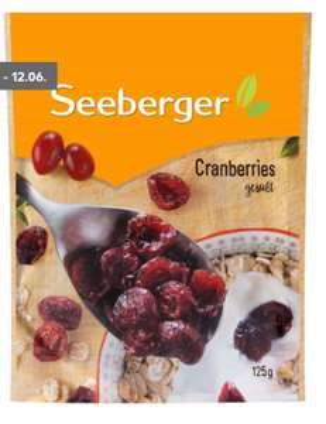 [Kaufland] Seeberger Cranberries gesüßt,  getrocknet 125g