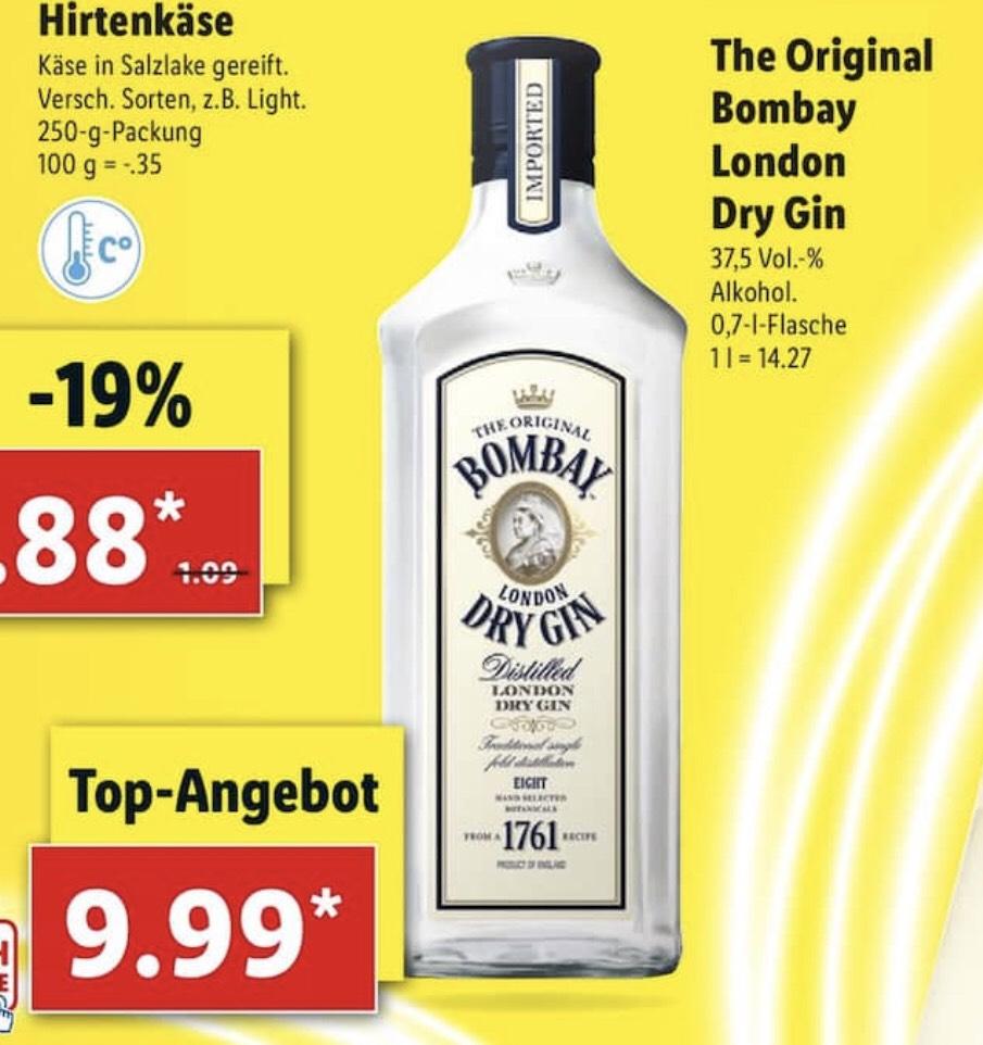 [LIDL] Bombay London Dry Gin, 37,5% (1 x 0,7l)