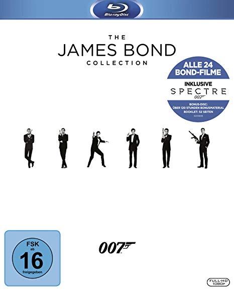 The James Bond Collection 1-24 (2017) inkl. Spectre als Blu-Ray und DVD