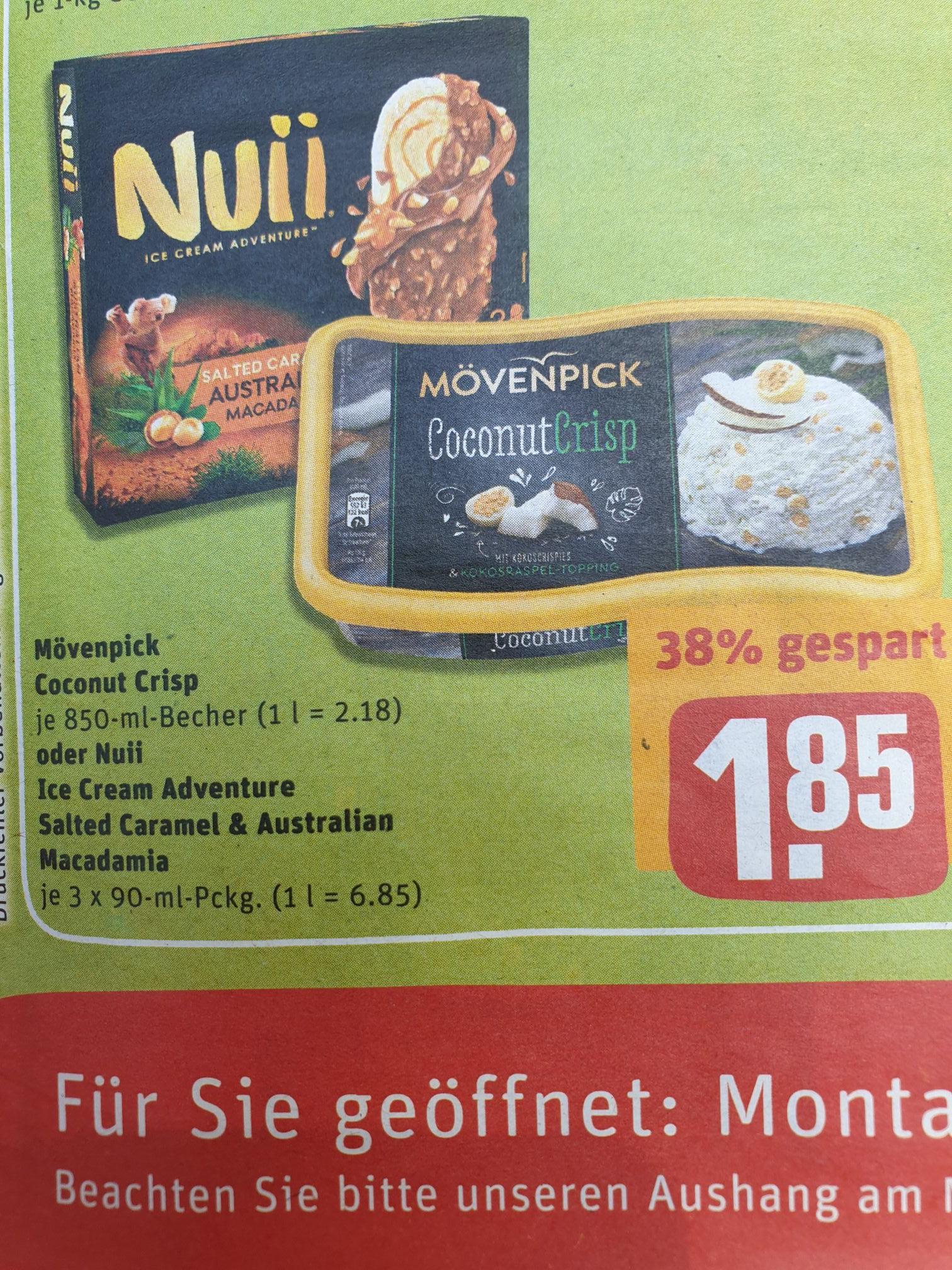 (Rewe) Mövenpick- Eiscreme bis zu 16 verschiedene Sorten für 1,85€