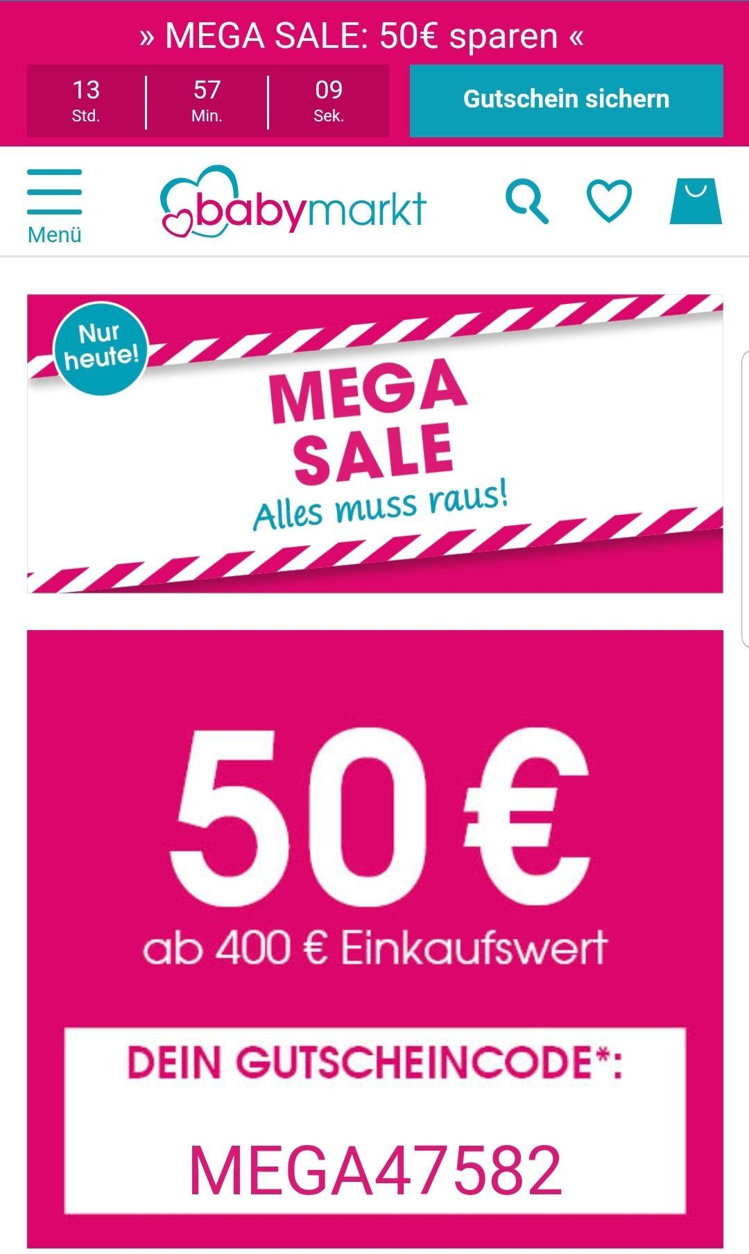 Gutscheine Babymarkt 10-50€, z.B. Qeridoo Kidgoo 2 zum Bestpreis