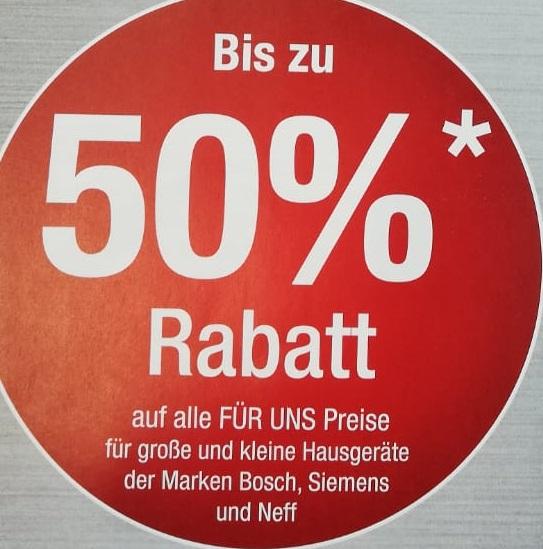 [lokal DD] Bis zu 50% im Für uns Shop Filiale Dresden