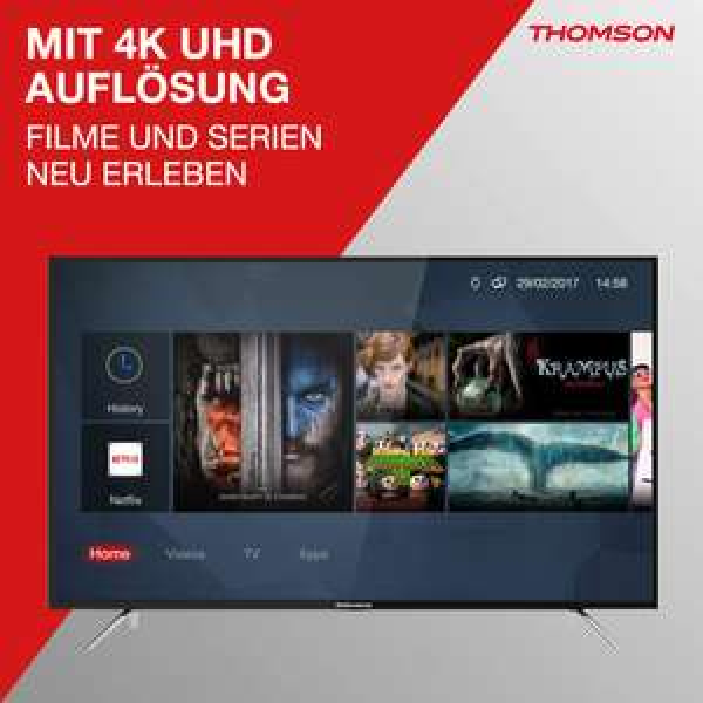 [PRIME-DEAL] Thomson 65UC6326 | 65 Zoll Fernseher | 4K Ultra HD | HDR | 320 nits | 10 Bit | Micro Dimming | Smart TV