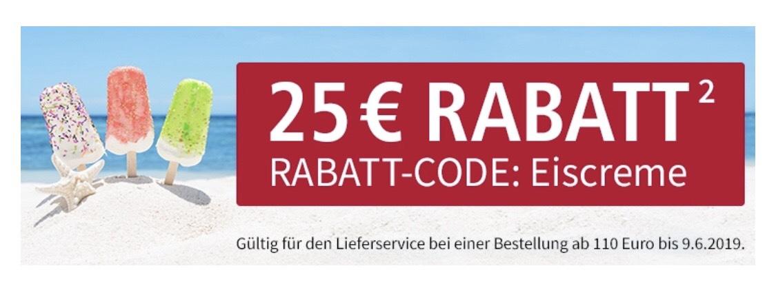 Real lebensmittelshop 25€ Rabatt ab 110€ Bestellwert