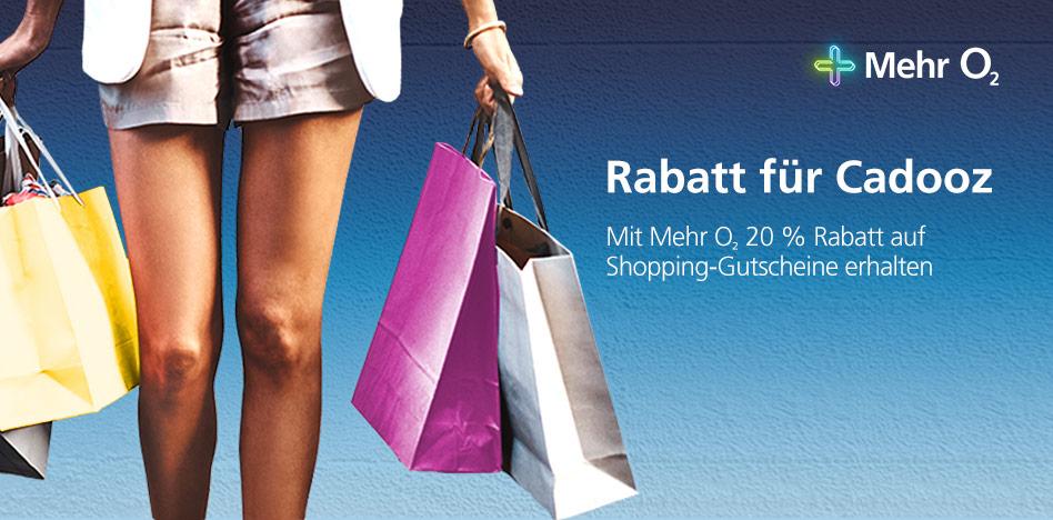 [Cadooz] Bis zu 20% Rabatt auf Shopping-Gutscheine als o2-Kunde