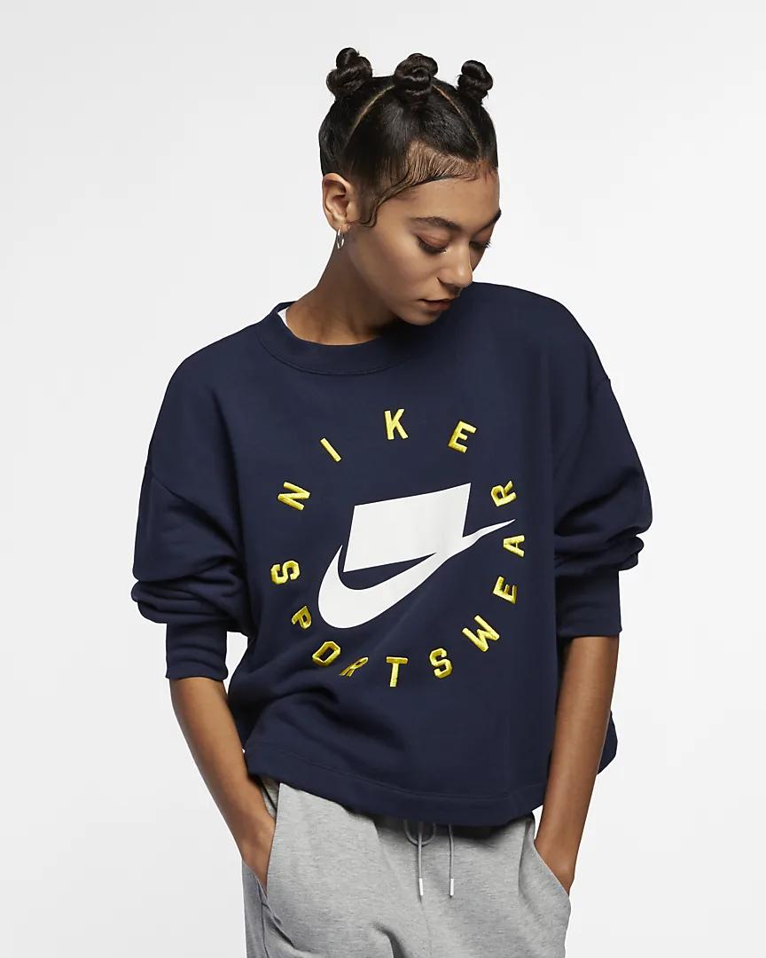 Nike Sportswear NSW Rundhalsshirt aus French-Terry in 3 Farben und allen Größen