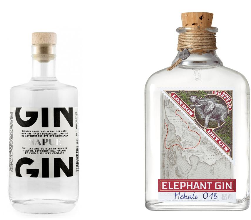 Napue Finnish Rye Gin + Elelphant Gin = 55,30€