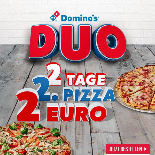 [Domino's] Duo - Jede 2. Pizza für nur 2€ (jeden Dienstag & Mittwoch)