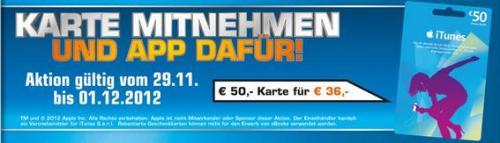 50 € iTunes-Karte für 36 € @Saturn Kiel