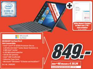 Microsoft Surface Pro 6 Intel Core i5 128GB SSD + Type Cover + Office Home & Student für 849€