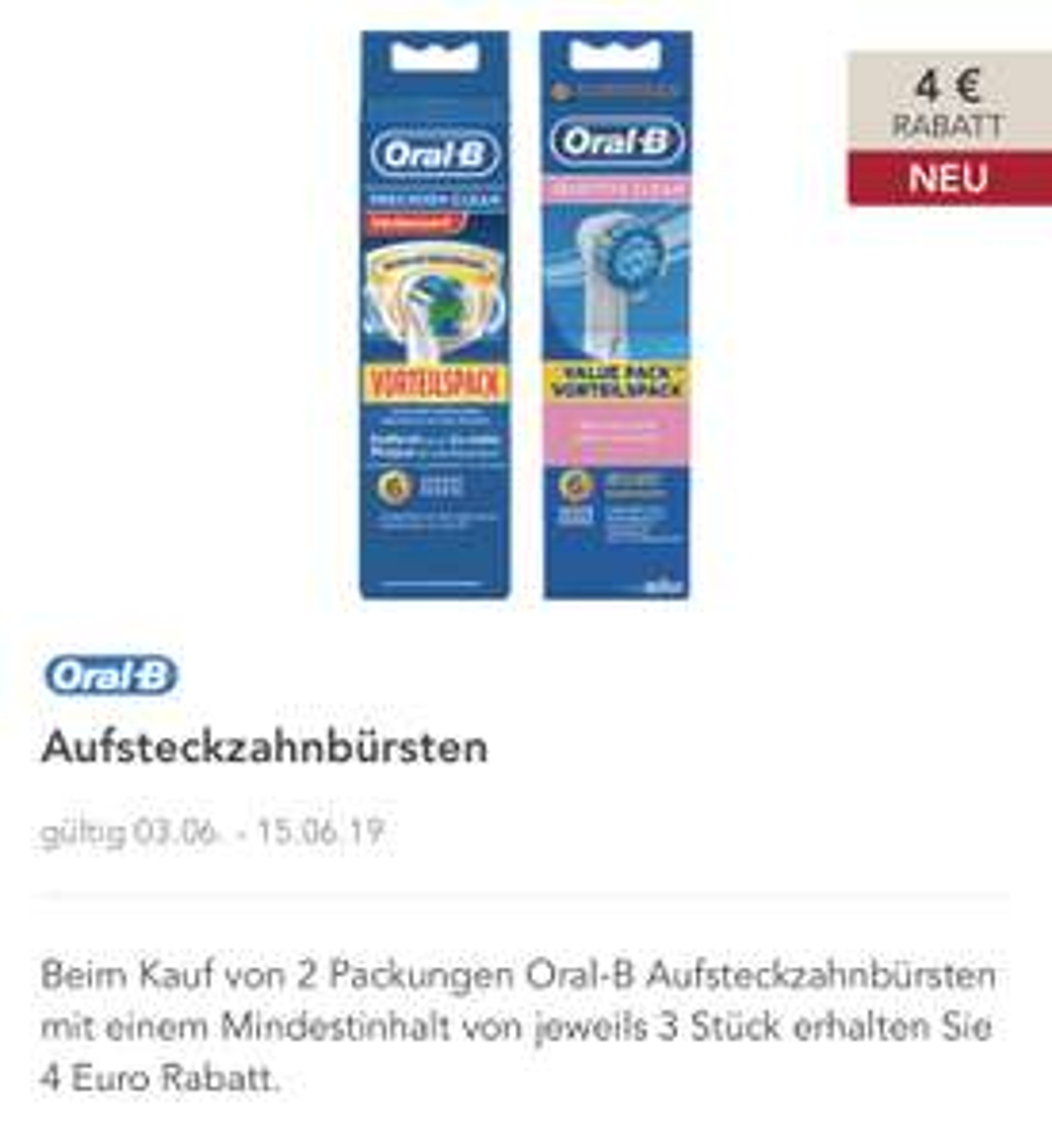 [Rossmann] 10 Oral-B Precision Clean Aufsteckbürsten