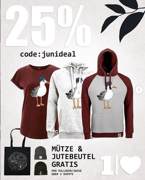 25% bei one love company auf T-Shirts, Pullover, Mützen uvm.