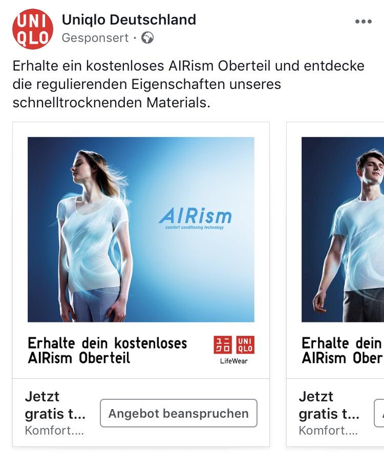 kostenloses Uniqlo Shirt in Berlin