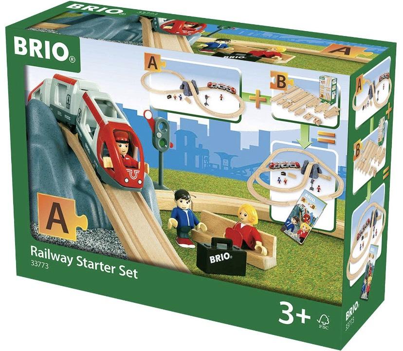 BRIO World Holz-Eisenbahn Starter Set A (33773)
