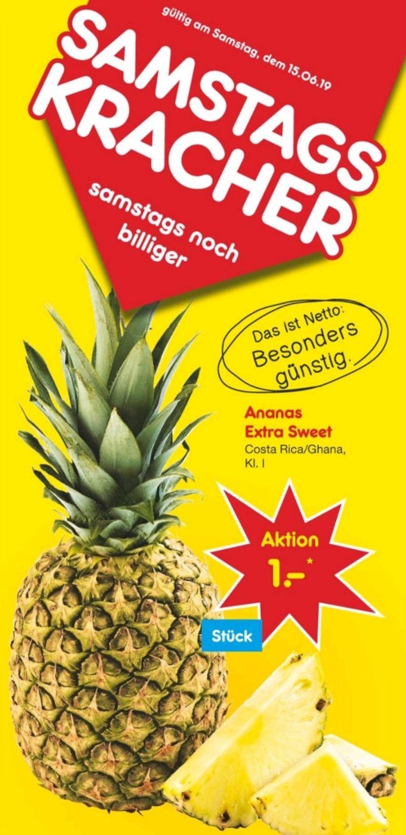 [Netto MD] Ananas Extra Sweet für 1,- am 15.06.2019