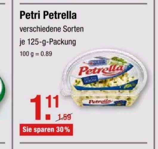 GRATIS 2x Petrella Frischkäse bei [V-Markt] dank Coupies+ Scondoo Cashback [ab 6.06]
