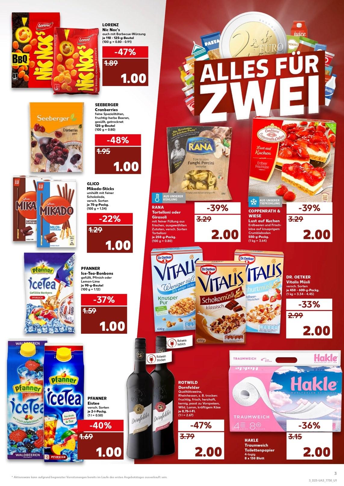 (Kaufland) Pfanner Eistee 2l 1€