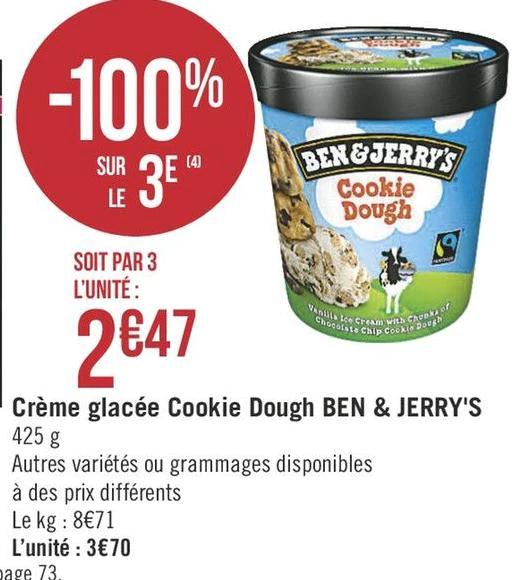 [Frankreich/Geant Casino/Lidl] Ben & Jerry's Standard Sorten 500ml