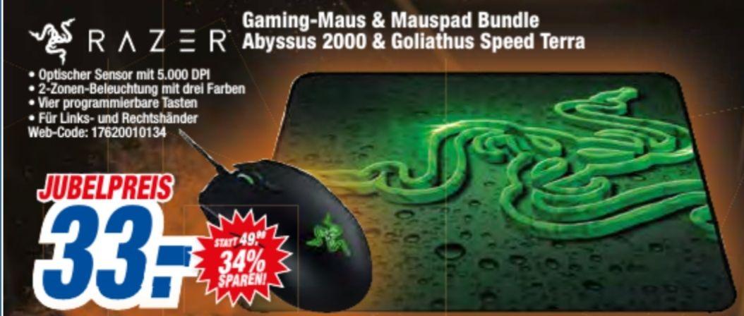 Razer Gaming Maus & Mauspad Bundle Abbysus 2000 & Goliathus Speed Terra [Expert HEM]