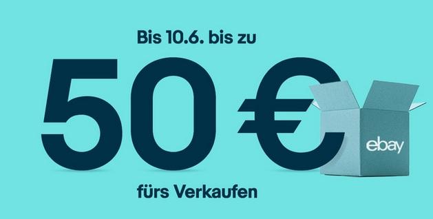 Verkaufsaktion: Gutscheine bis zu 50€* bei Ebay
