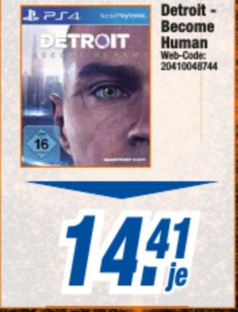 Detroit: Become Human für 14,41€ & Sony DualShock 4 V2jet black für 38,88€ (PS4) [Expert Celle, Burgdorf, Lehrte]