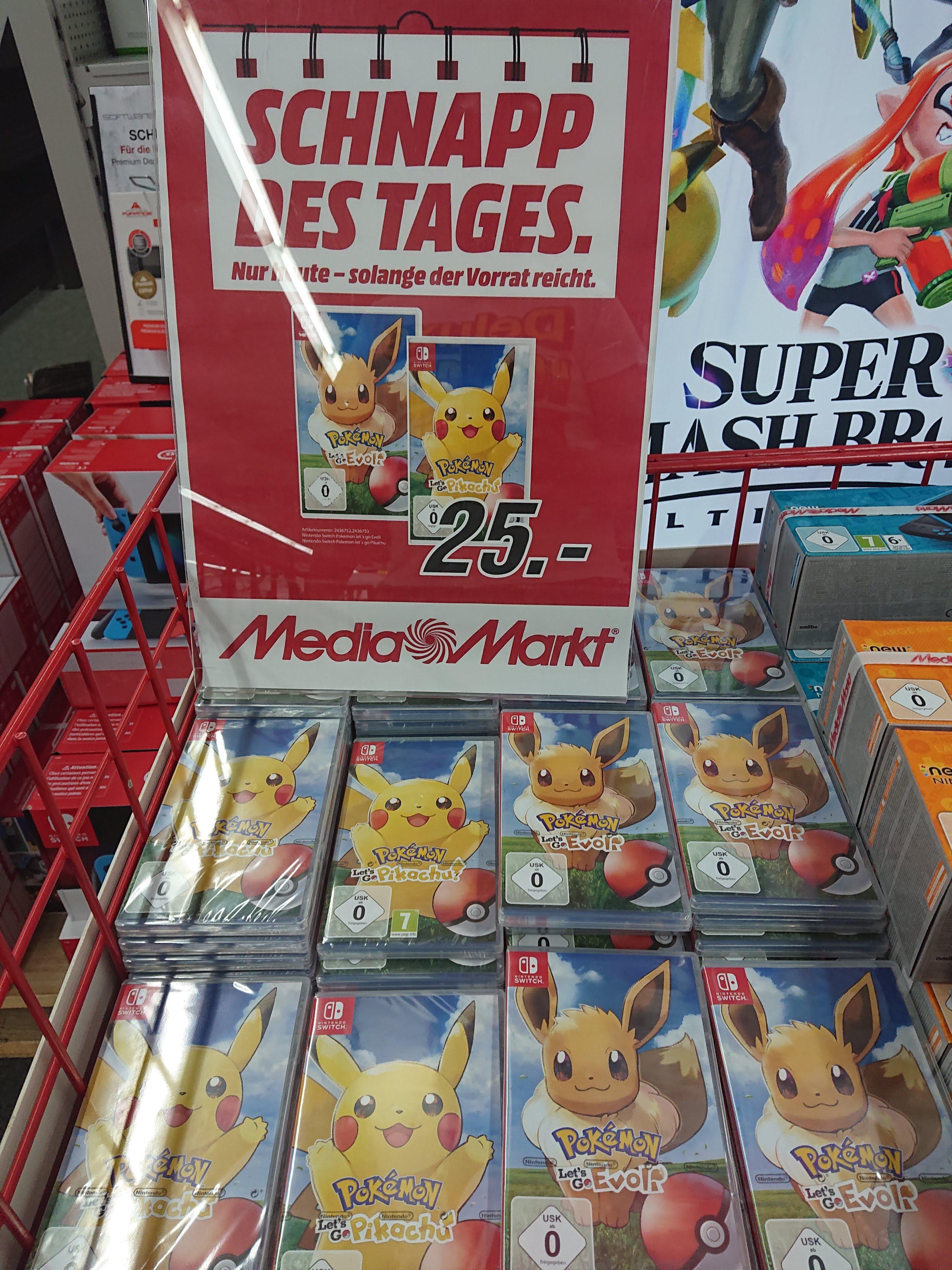 [LOKAL Media Markt Weiterstadt] Nintendo Switch - Pokémon: Let´s Go, Pikachu! oder Evoli! 25€