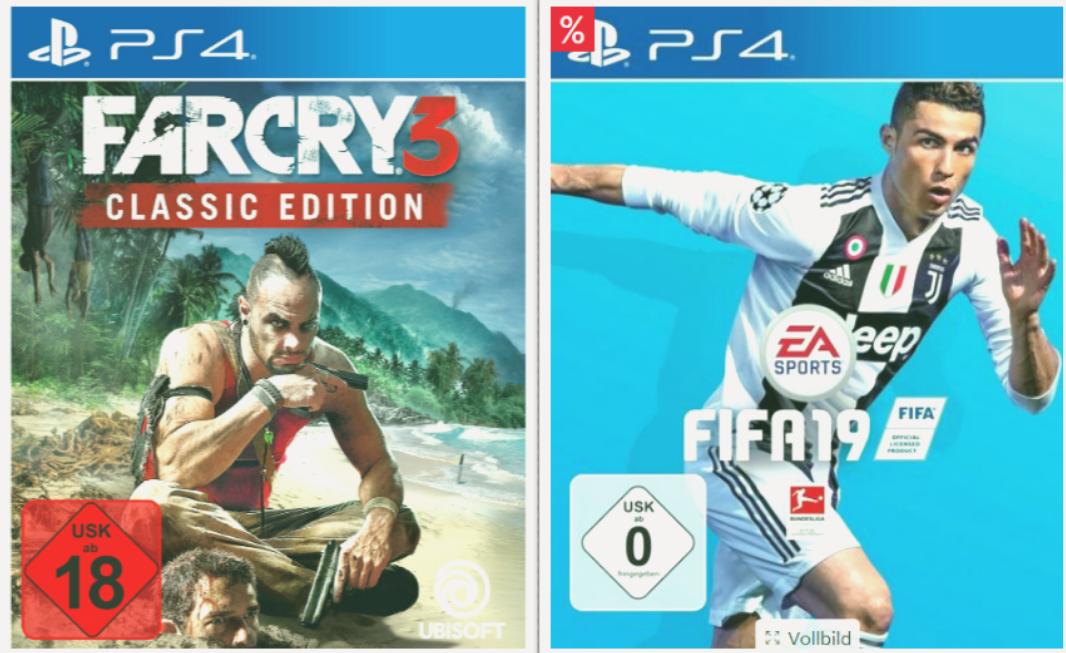 Far Cry 3 Classic Edition (PS4) + FIFA 19 (PS4) für 27,97€ inkl. Versand (Schwab)