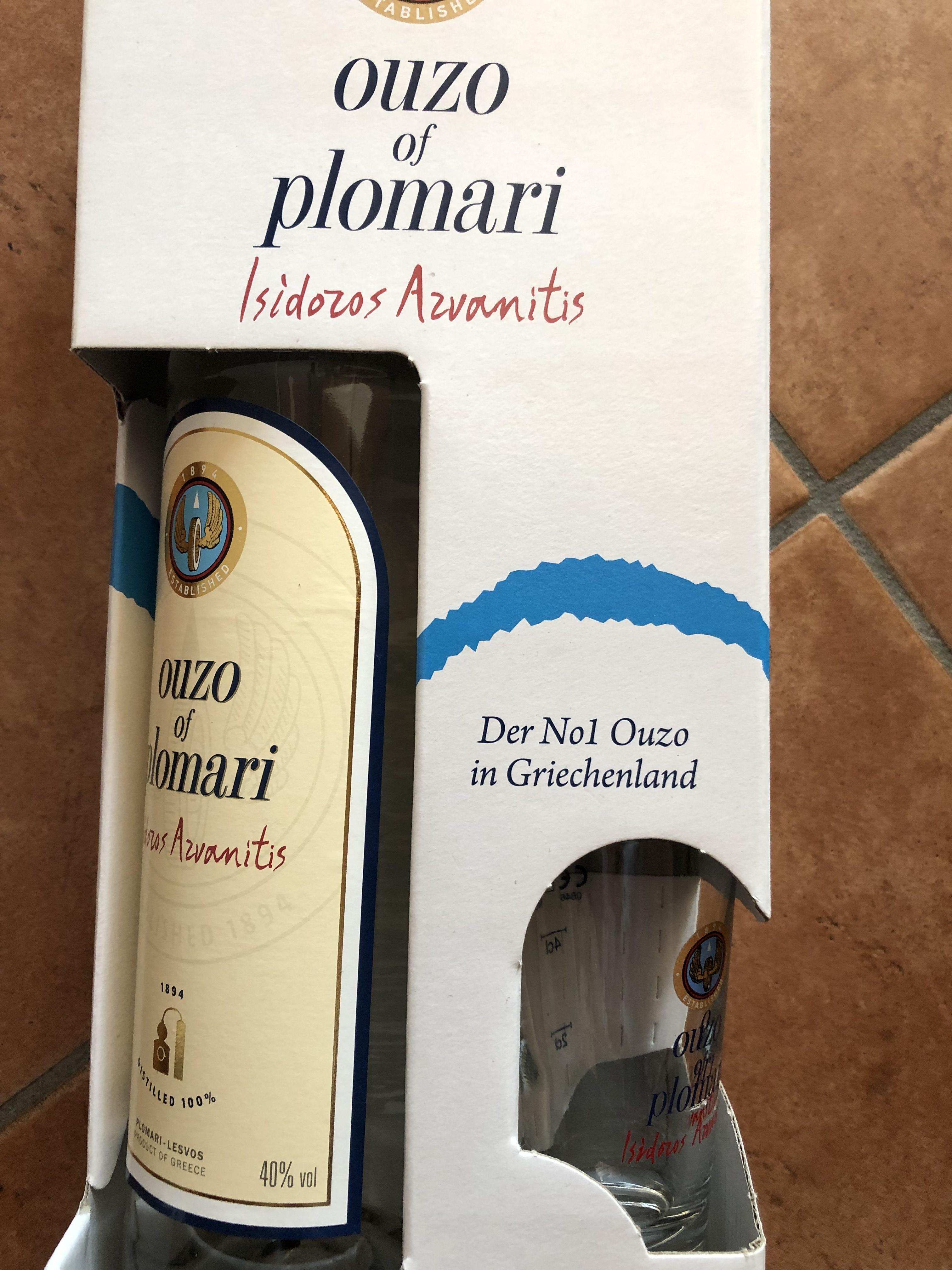 Lokal Vechelde - Ouzo Plomari mit Glas