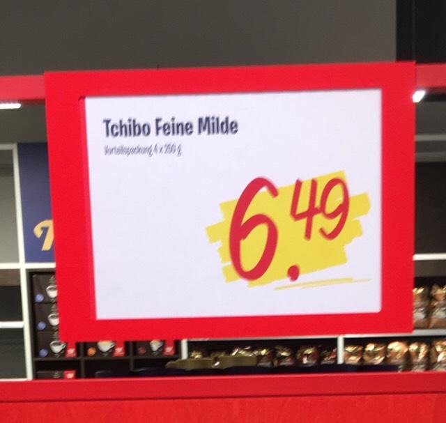 """Tchibo Kaffee """"Feine Milde"""" 4x 250g für Grenzgänger zum Spitzenpreis in Venlo lokal"""