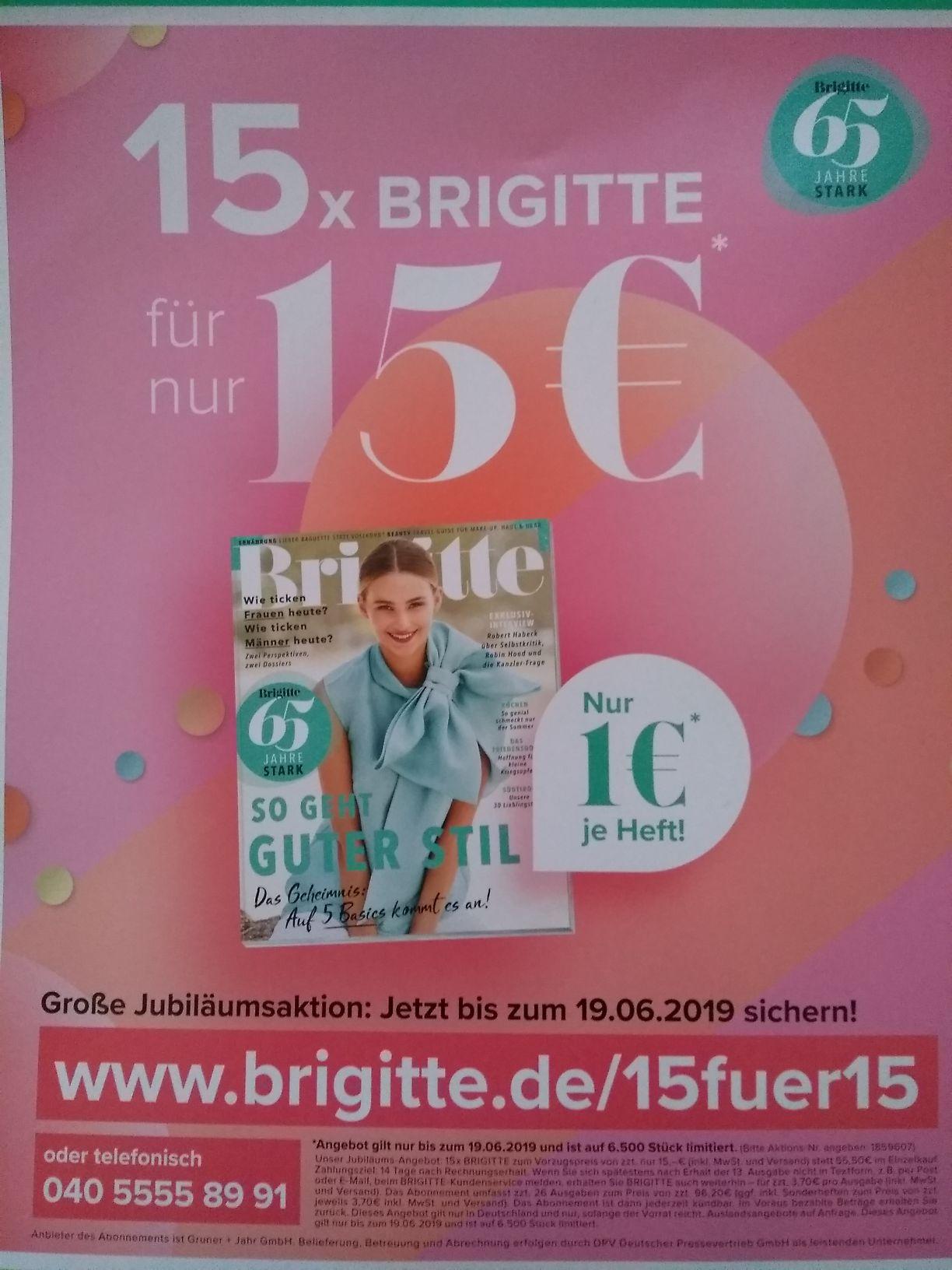 15 Brigitte Ausgaben für 15 €