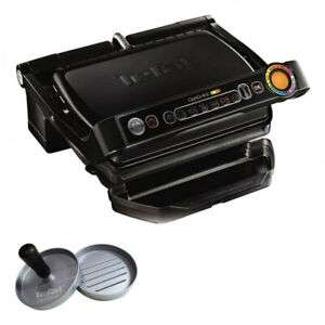 TEFAL Optigrill+ GC 7128 Kontaktgrill 2000W 6 Grillprogramme inkl. Burgerpresse