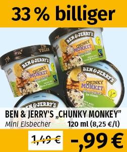 Ben & Jerry's Chunky Monkey bei Frostkauf (Leipzig, Berlin, Halle/S., Jänickendorf...)