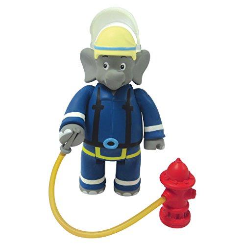 (Amazon Plus Produkt) Benjamin Blümchen Figur als Feuerwehrmann 10806, bewegliche Spielfigur ca. 9 cm groß, mit tollen Accessoires
