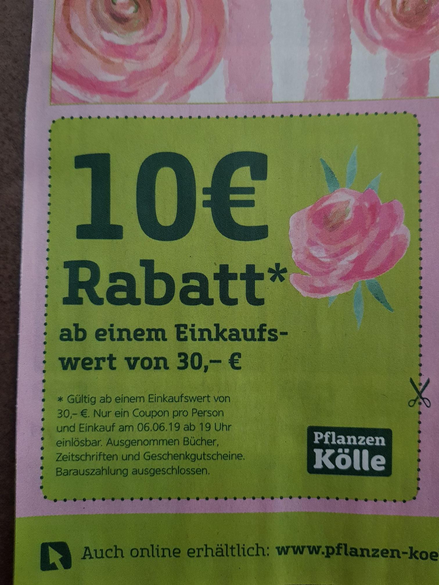 10 Euro Rabatt ab 30 Euro [lokal - Pflanzen Kölle]