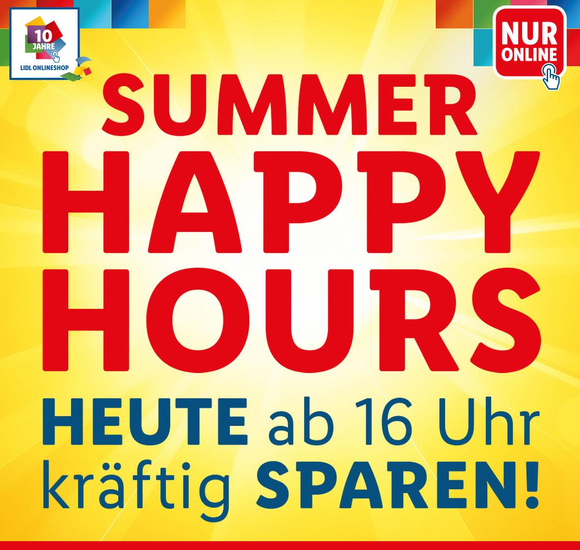 HEUTE Lidl Summer Happy Hours - 40% Rabatt und gratis Versand 16-24h