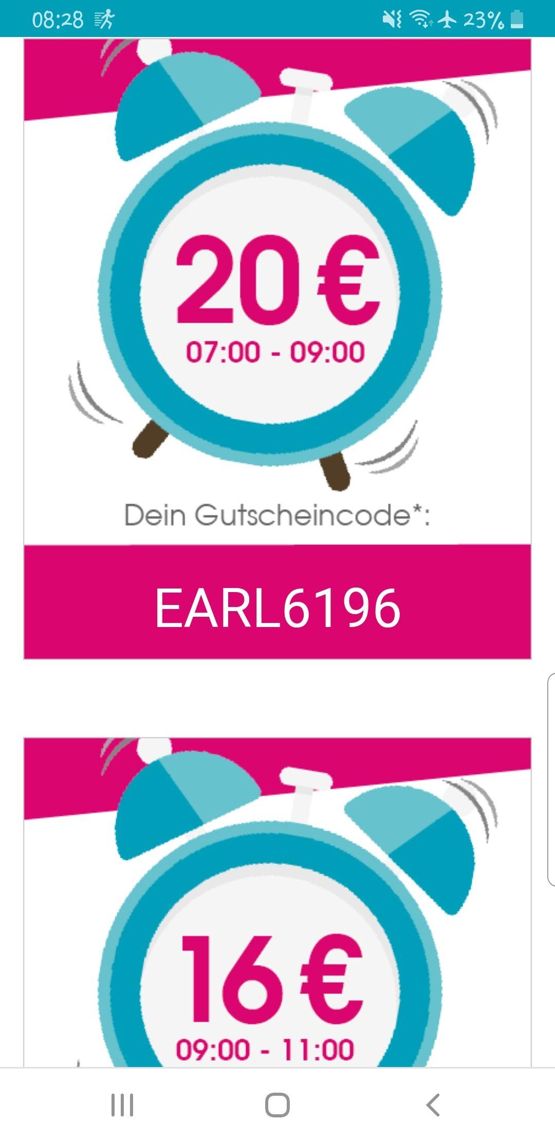 Babymarkt Coupon nach Uhrzeit gestaffelt (20€/ 16€/ 12€) ab 120€ Bestellwert