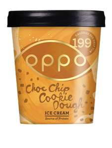 Oppo Ice Cream Chocolate Chip Cookie & Salted Caramel / Low(-er) Carb Eis 475ml [lokal]