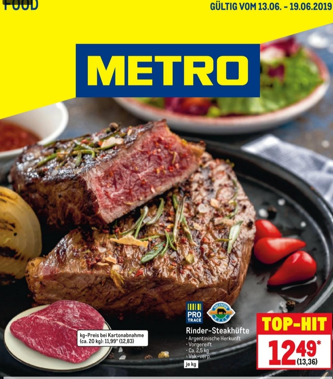 [Metro] arg. Steakhüfte, ca 2,5 Kg Stück für 9,99€/ Kg ab 13.06.